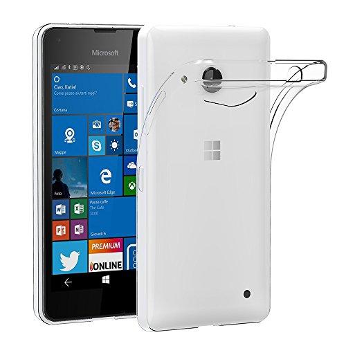 AICEK Microsoft Lumia 550 Hülle, Transparent Silikon Schutzhülle für Lumia 550 Hülle Crystal Clear Durchsichtige TPU Bumper Handyhülle Microsoft Lumia 550 Hülle