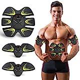 Electroestimulador Muscular Abdominales, Masajeador Eléctrico Cinturón,Estimulación Muscular Masajeador Eléctrico Cinturón Abdomen/Brazo/Piernas/Glúteos