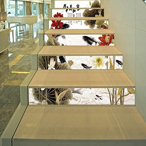SQINAA Pegatinas 3D para escaleras, Autoadhesivas, extraíbles, Impermeables, para baldosas de escaleras, Adhesivos para baldosas Verticales para decoración de Sala de Estar (7.08 x 39.3 Pulgadas),B