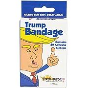 Fairly Odd Novelties Donald Trump Full Color Novelty Adhesive Bandages - Making Boo Boo's Great Again