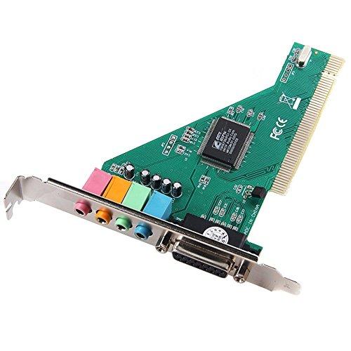 4 Channel 5.1 Surround 3D PC PCI Sound Audio Card w/Game MIDI Port Sound Card