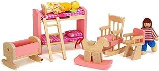 Mobilier de poupée Meubles Toy en Bois 1 12 Échelle Miniature Chambre à Coucher en Enfants Lit Dollhouse DIY Accessoires R...