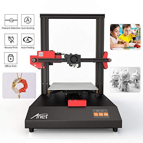 BESTSUGER Mini Pro 3D Printe, Imprimante 3D en Aluminium à bricoler avec 2.8 '' Écran Couleur Smart Touch, Impression Hors Ligne, Taille 220x220x250mm