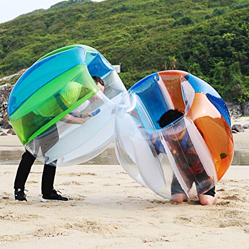 Two Bumper Balls Inflatable Bumper Ball Soccer Ball Dia Giant Human Hamster Knocker Ball 1.5M/5ft Body Zorb Ball for Adults & Teens Outdoor Team Gaming Play