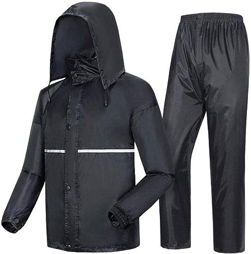 Rain season Ensemble Veste et Pantalon imperméables Coupe-Vent Unisex Convient pour Cyclisme Moto en Plein Air,XXXXL