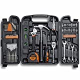 VonHaus 54 Piece Tool Set - General Household Hand Tool Kit with Ratchet Wrench, Precision Screwdriver Set, Socket Kit in a Molded Storage Case - Ideal for Home Repair & Car Maintenance - Tool Gift