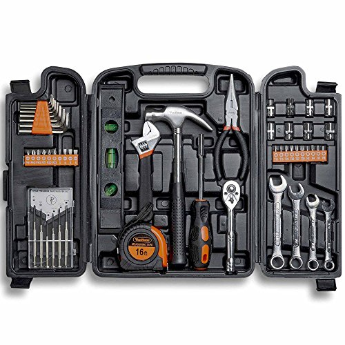 VonHaus 100 Piece Home Repair Tool Set - General Household Hand Tool Kit with Ratchet Wrench,...