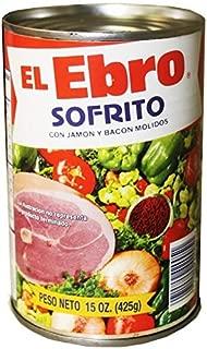 El Ebro Sofrito Seasoning with Ground Ham & Bacon 15oz 4 Pack