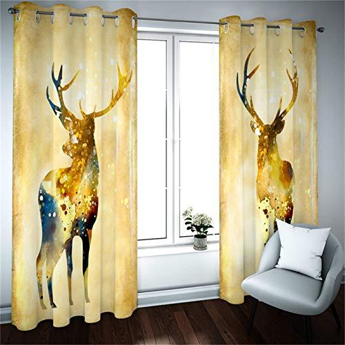 SSHHJ Cortina Navideña Cortinas Decorativas Creativas para El Hogar Adecuado para Cortinas En Cocina, Baño Y Dormitorio 2 Piezas
