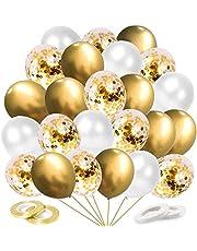 O-Kinee Metalliska kromballonger, för bröllop födelsedag examen möhippa babyshower julfest dekoration, 60 stycken