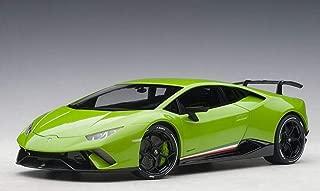 Lamborghini Huracan Performante Verde Mantis/Pearl Effect Green with Black Wheels 1/18 Model Car by Autoart 79154