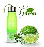 Limón/fruta Infuser Botella de agua, limón Squeezer, frutas Infuser Cup, Loading fruta Infusión, Outdoor Sport Zumo, libre de BPA Botella Botellas de agua, verde