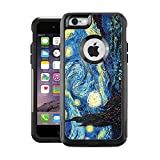 Teleskins Protective Designer Vinyl Skin Decals Compatible with Otterbox Commuter iPhone 6 / 6S Case/Cover - Vincent Van Gogh The Starry Night Design Pattern - only Skins and not Case