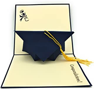 HANDMADE GRADUATION CAP POP UP CARD - Ideal for highschool college university masters and PhD Graduates!