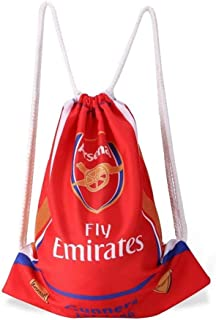 Arsenal Soccer Drawstring Bag Gym Sack Trainer Cinch Bag Shoulder Strap Backpack
