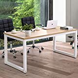 Home Office Desk Computer Desk 63 Inch Large Computer Table for Home Office, with Wide Workstation Tabletop for Writing, Made of The Finish Wood Board and Sturdy Steel Legs