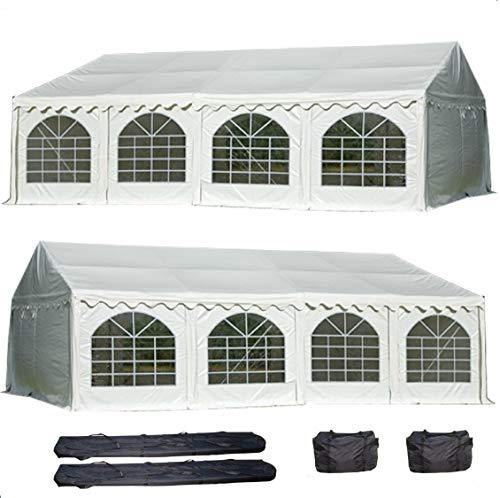 DELTA Canopies 26'x20' PVC Party Tent - Heavy Duty Wedding Canopy Gazebo Carport - with Storage Bags