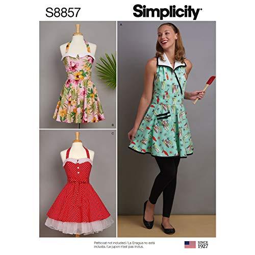Simplicity Schnittmuster 8857 Schürzen A (S-M-L)