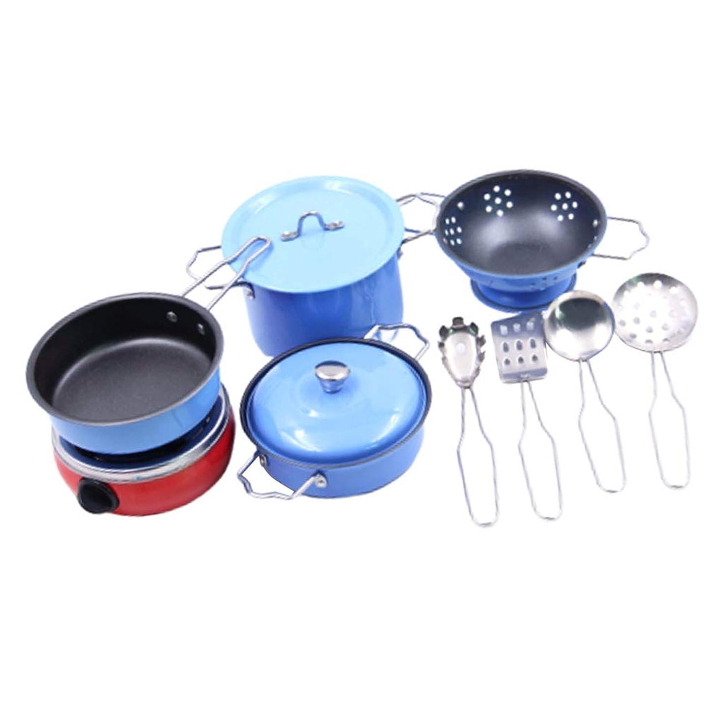 役に立つわざわざ目を覚ますキッチン調理器具セット ステンレス ごっこ遊び おままごとセット 子供おもちゃ 贈り物 11個入
