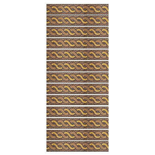 ZDDBD Calcomanías para Escaleras De Vinilo, 3D Autoadhesivas para Colocar sobre Escaleras Y Azulejos 18 * 100Cm * 13Pcs- Hilo En Espiral