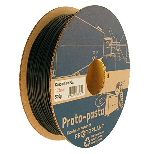 Proto-pasta CDP11705 Composite Conductive PLA, 1,75 mm, 500 g, color negro