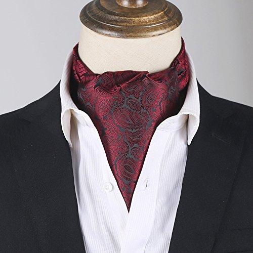 HAIPENG Mâle Cravate Tie Foulard Soie Hommes Entreprise Double Face Impression Costume Chemise Écharpes 24 Couleurs Optionnel, 15 X 117 CM Monsieur Occasions Formelles (Couleur : 18#)