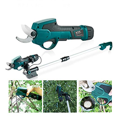 Read About TECHLINK Cordless Secateur Electric Pruning Shears Garden Trimmers Rechargeable 25mm Cutt...