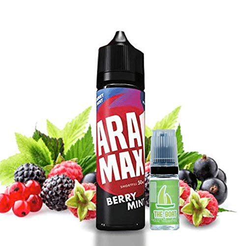 E Liquid Aramax Berry Mix 50ml - 70vg 30pg- booster shortfill + E Liquid The Boat 10 ml lima limón - Pack de 2 líquidos para cigarrillo electrónico.