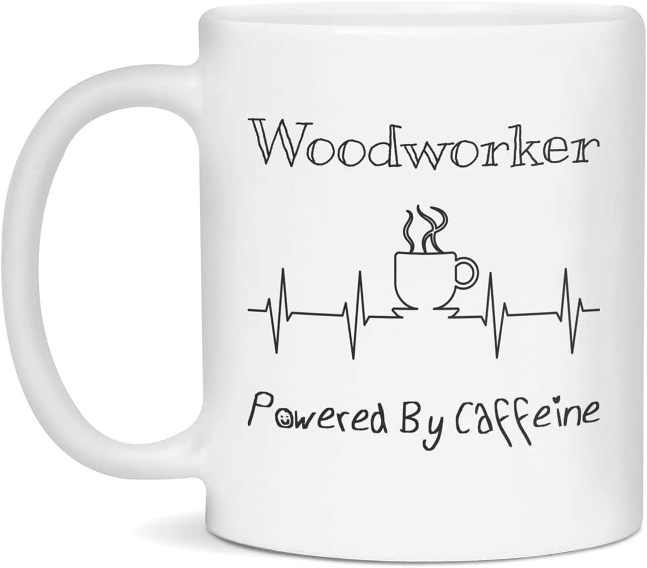 Woodworker Powered By Caffeine Funny Coffee EKG Lover ECG San Diego Mall Gift All items in the store M