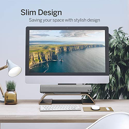 TaoTronics Computer Speakers, Wired Computer Sound Bar, Stereo USB Powered Mini Soundbar Speaker for PC Cellphone Tablets Desktop Laptop