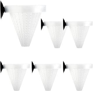 Senzeal 6X Aquarium Live Red Worm Fish Feeder Plastic Cone Cup Shape Basket Feeder for Feeding Fish