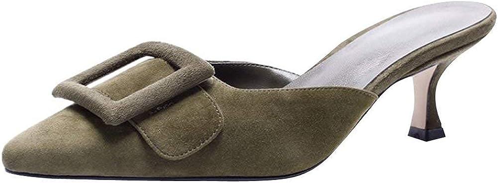 Zaoinin Women Special sale item Buckle Mule Sandals Slip-On Heels Pointed Toe Wholesale High
