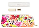Kate Spade New York Floral Pen and Pencil Case with Ruler, Sharpener, and Eraser, Zipper Pouch Organizer for Office/School Supplies, Dahlia