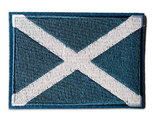Parche Bordado de Tela con la Bandera de Escocia
