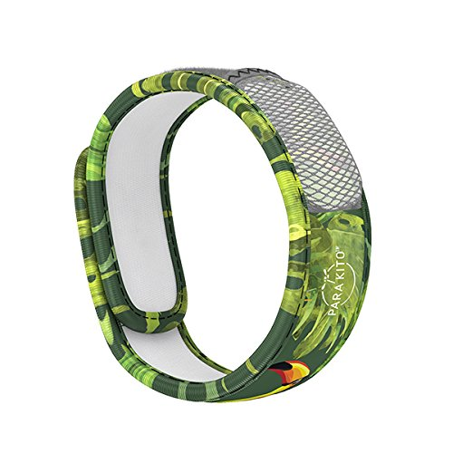 PARA'KITO Mosquito Insect & Bug Repellent Wristband - Waterproof, Outdoor Pest Repeller Bracelet w/Natural Essential Oils (Tropic)