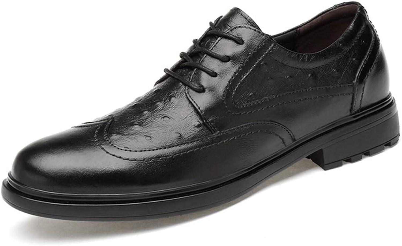 JUJIANFU -skor Män Mode Oxford Oxford Oxford Ytlig, lätt personlig struktur Low -top Lace -up Brogue skor  100% äkta motgaranti