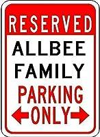 レトロなビンテージティンサインオールビー家族駐車場ティンウォールサインレトロな鉄の絵ヴィンテージメタルプラークハンギングポスターバーカフェストアホームヤード