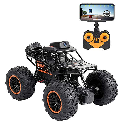 RC Cars 2.4Ghz Remote Control Car with 720P HD FPV WiFi Camera, 1/16 Scale Off-Road Remote Control Truck High Speed Monster Trucks for Kids Adults, Gift for Boys and Girls