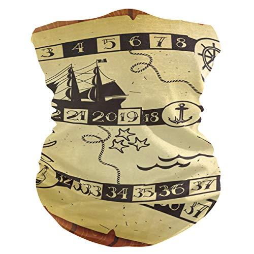 BOLIMAO - Juego de mesa de pirata para niños, transpirable, pasamontañas y pasamontañas, multifuncional, lavable, polaina, bufanda para el sol, UV, polvo y viento