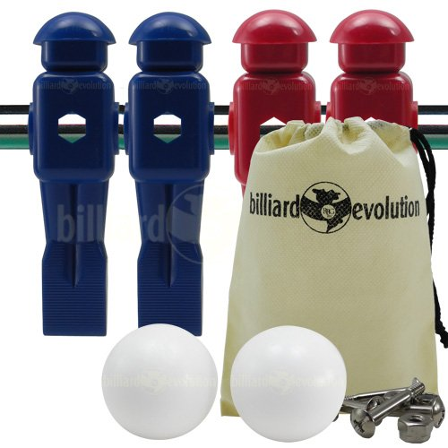 Billiard Evolution 4 Red and Blue Dynamo Foosball Men and 2...