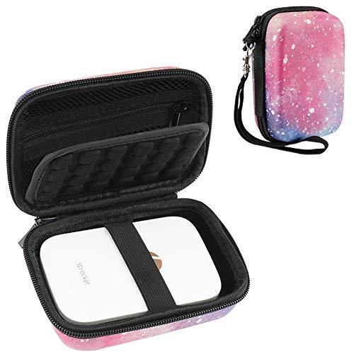 Cpano Galaxy Estuche rígido para HP Sprocket Impresora portátil de Fotos/Polaroid Zip Caja de Funda Protectora para Impresora móvil (Galaxia)