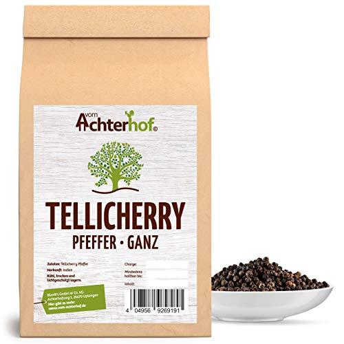250 g Tellicherry Pfeffer schwarz ganz Premiumqualität aus Indien natürlich vom-Achterhof Pfefferkörner