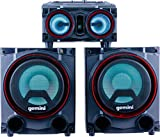 Gemini Sound GSYS-2000 Bluetooth LED Party Light Stereo System and Home Theater Audio System with 2000W Watts Bookshelf Speakers, Dual 8' Woofers, Media Player, FM Radio, USB/SD Playback