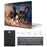 MAITTAO 4 in 1 Bundle Older MacBook Pro 13 inch Case 2012-2015 Release,Plastic Pattern Hard Shell & Laptop Sleeve & Keyboard Cover for Mac Book Pro 13 Retina Display A1502 A1425, Akhal-Teke Horse 3