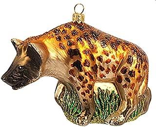 Hyena African Polish Glass Christmas Ornament Africa Mammal Zoo Animal