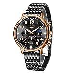 LIGE Orologi da uomo Moda orologio da polso al quarzo analogico impermeabile per uomo con cronografo...