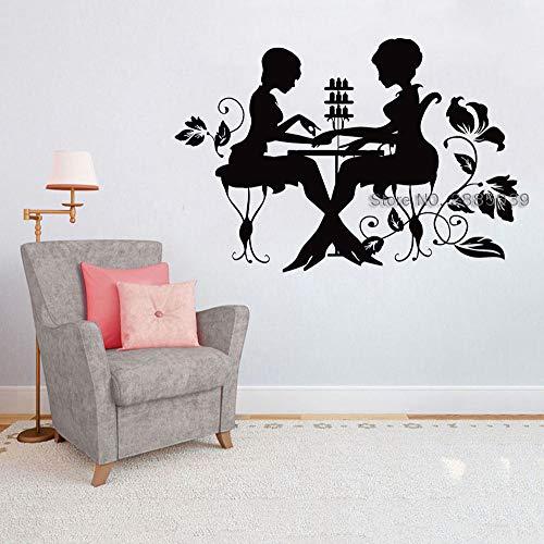yaoxingfu Nagellack Maniküre Wanddekor Fensteraufkleber Nägel Salon Wandaufkleber Für Pediküre Schönheitssalon Shop Zeichen Vinyl Poster Lc gelb S 62 cm x 42 cm