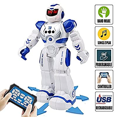 Sendida Remote Control RC Robot Toys Dancing Robot Kit For Kids , Robotic Toys With Infrared Controller, Programmable, Senses Gesture, LED Eyes, Singing, Speaking, BEST Robot Toy For Boys And Girls