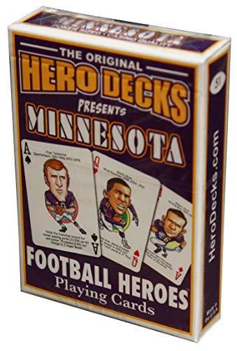HeroDecks Football Playing Cards for Minnesota Vikings Fans