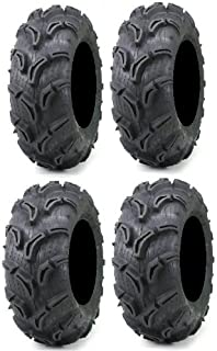 Full set of Maxxis Zilla 28x9-14 and 28x11-14 ATV Mud Tires (4)